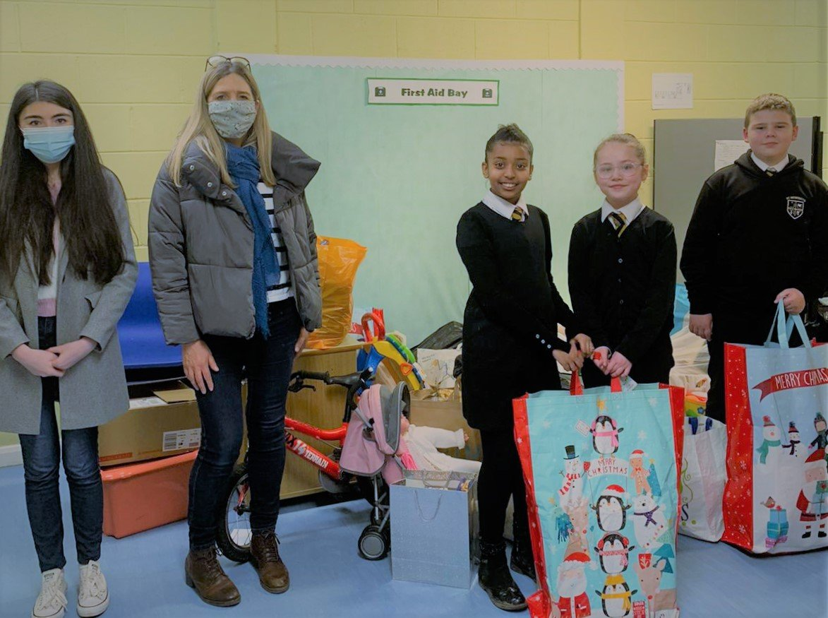 School children in Easterhouse receive gifts from Star Refrigeration's Christmas appeal