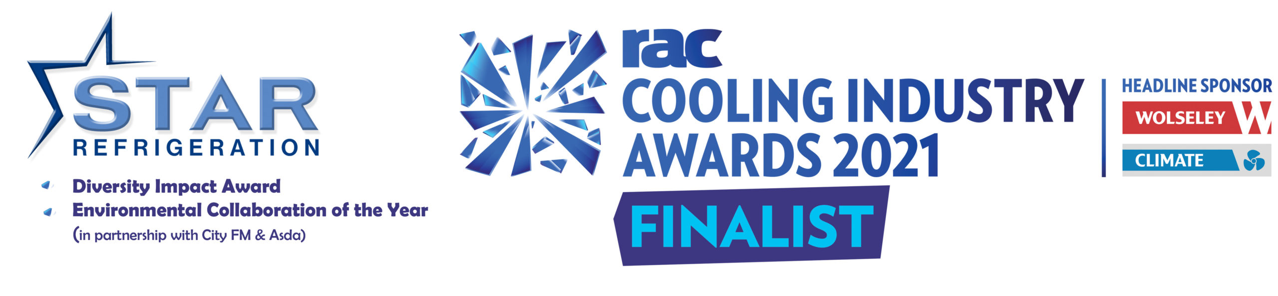 Star Refrigeration has been shortlisted for Diversity Impact and Environmental Collaboration at the RAC Cooling Awards