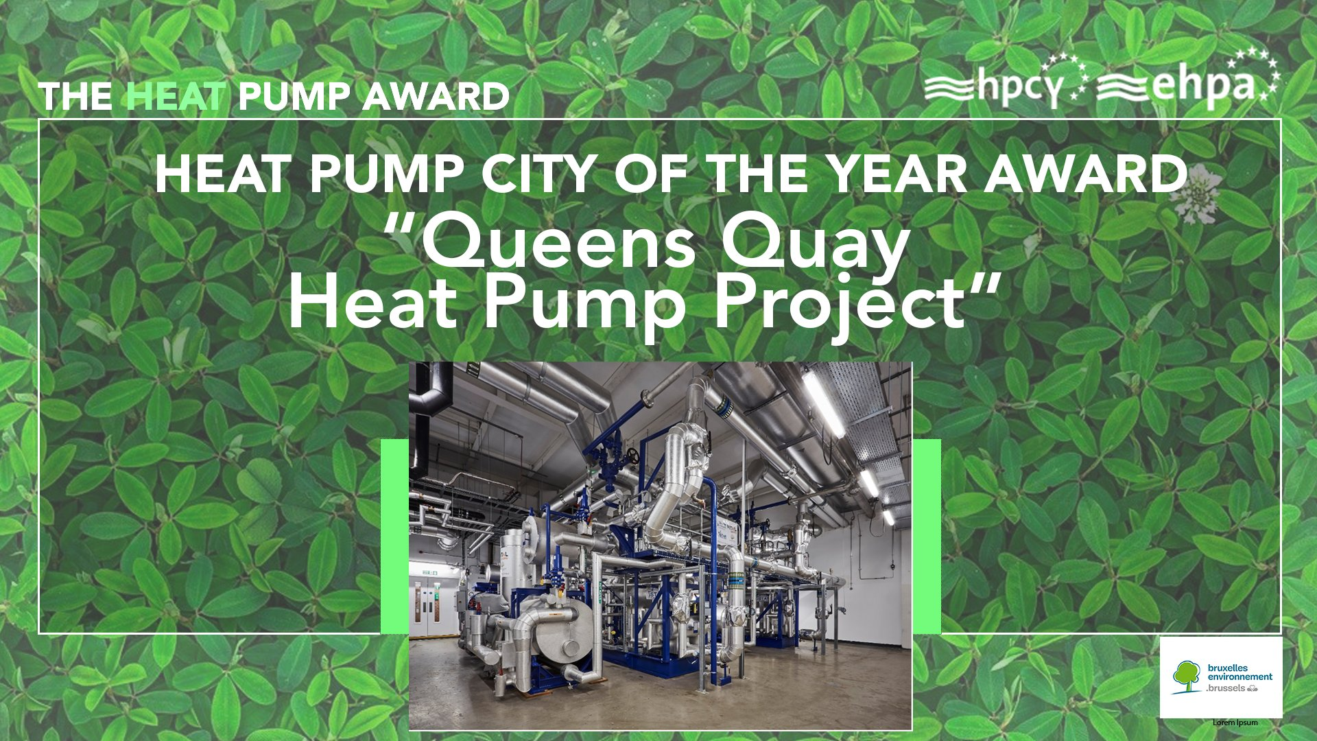 Queens Quay wins Heat Pump City of the Year